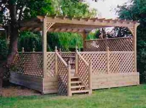 Decking pride fencing gates of kent sussex for Garden decking maidstone